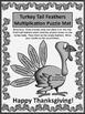Thanksgiving Math Activities: Turkey Tail Feathers Multipl