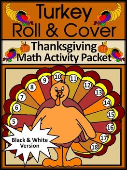 Thanksgiving Math Activities: Thanksgiving Turkey Roll & C