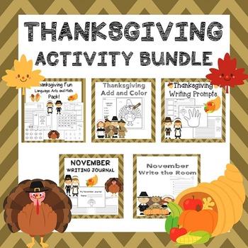 Thanksgiving Activities / Thanksgiving ELA / Thanksgiving Math