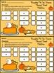Thanksgiving Math Activities: Pumpkin Pie Thanksgiving Ten
