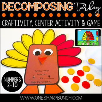 Thanksgiving Turkey Craft for Decomposing Numbers