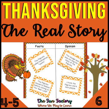 Thanksgiving ~3rd-5th Grades~ The Real Story