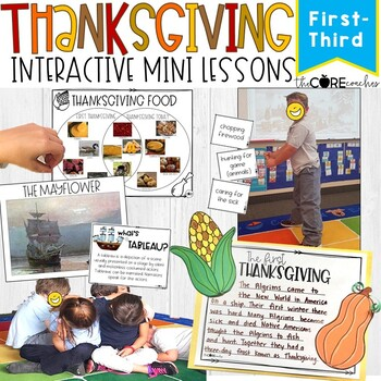 Thanksgiving: Interactive Mini Lessons, Grades 1-3