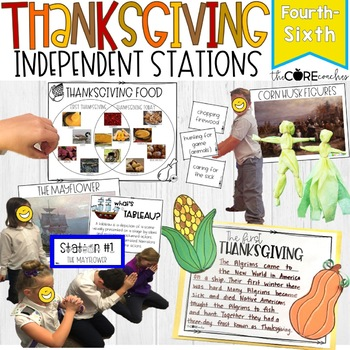 Thanksgiving: Interactive Learning Stations, Grades 4-6