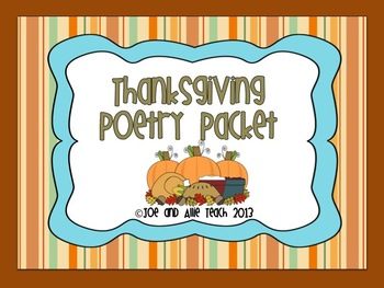 Thanksgiving Acrostic Poetry Packet
