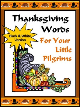 Thanksgiving Word Wall Activities: Thanksgiving Words Flas
