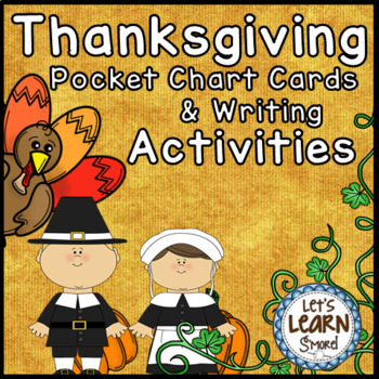 Thanksgiving Writing Pocket Chart Cards Writing Activities