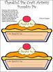 Thanksgiving Activities: 3D Thankful Pie Thanksgiving Craf