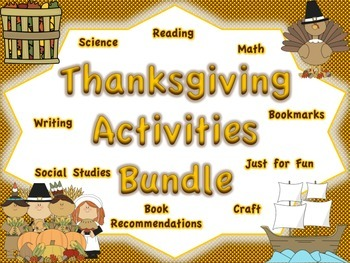 Thanksgiving Activities BUNDLE: Multiple Subject Areas