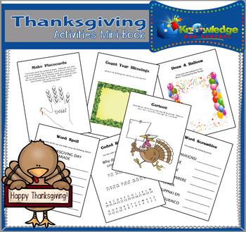 Thanksgiving Activities Mini-Book