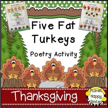 Thanksgiving Activity ~ Five Fat Turkeys Poetry Activity
