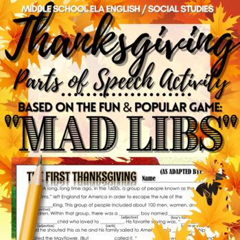 Thanksgiving Activity: Mad Libs!