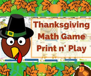 Thanksgiving Activity - Math Multiplication