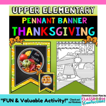 Thanksgiving Writing Activity: Banner with Thanksgiving Wr