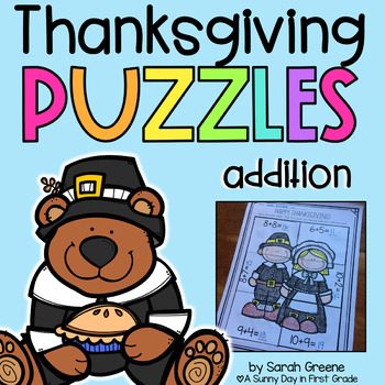 Thanksgiving Addition Puzzles!