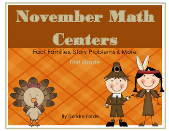 November Math Centers (Thanksgiving)