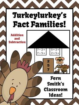 Thanksgiving Addition & Subtraction Fact Families Center G