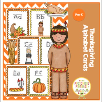 Thanksgiving Alphabet Cards