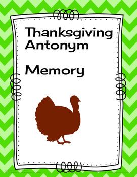 Thanksgiving Antonym Memory