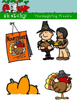 Thanksgiving / Autumn / Fall Freebie 300dpi Color Grayscal