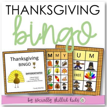 Thanksgiving BINGO! {Differentiated for k-5th Grade or Abi