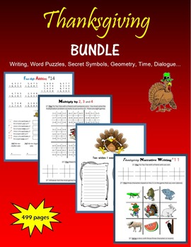 Thanksgiving BUNDLE by The Gifted Writer