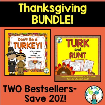 Thanksgiving BUNDLE {Turk & Runt PLUS Thanksgiving Reading Log!}