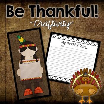 Thanksgiving Craft:  My Thankful Story