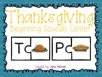 Thanksgiving Beginning Sounds Center