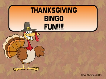 Thanksgiving Bingo Fun!