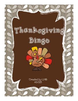 Thanksgiving Bingo {Fun holiday game!}