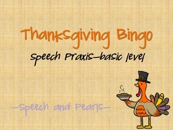 Thanksgiving Bingo-Praxis Basic Level