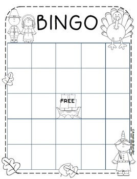 Thanksgiving Bingo Sheet