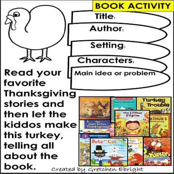 Thanksgiving Book Activity - Story Elements