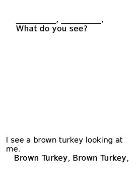 Thanksgiving Brown Turkey What Do You See?