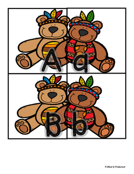 Thanksgiving Buddies: Uppercase / Lowercase Alphabet Match