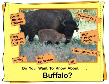Nonfiction Buffalo Unit for Early Readers
