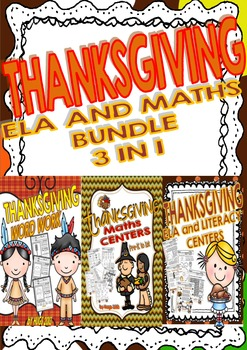 Thanksgiving Bundle 3 products in 1 (ELA and MATHS/ pre-K to 3rd)