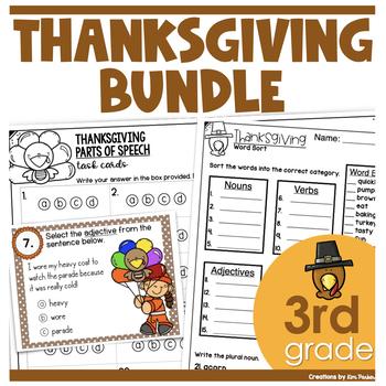 Thanksgiving Bundle- ELA and Math Activities