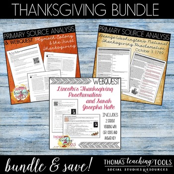 Thanksgiving Bundle: Primary Sources and Webquests