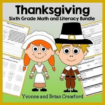 Thanksgiving Bundle for Sixth Grade Endless