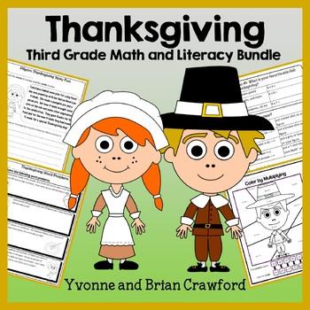 Thanksgiving Bundle for Third Grade Endless
