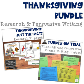 Thanksgiving Bundle with Research and Persuasive Writing