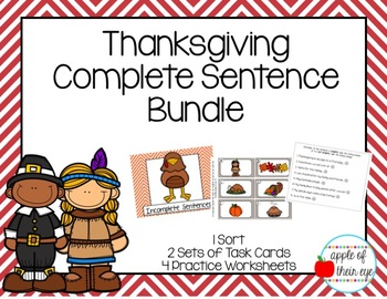 Thanksgiving Capitalization and Punctuation Worksheet Bundle