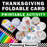 Thanksgiving Writing & Coloring Craft Foldable Card Litera