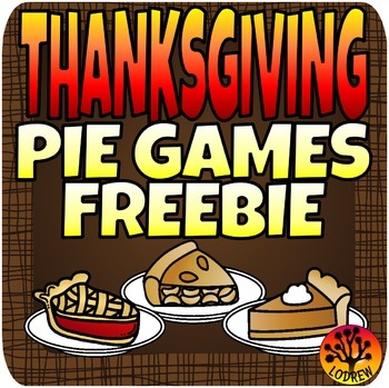Thanksgiving Centers Free Pie Centers Math Literacy Kinder