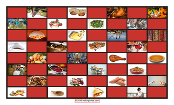 Thanksgiving Checkerboard Board Game