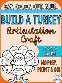 Thanksgiving/Christmas Articulation Craft- No Prep- /f v s