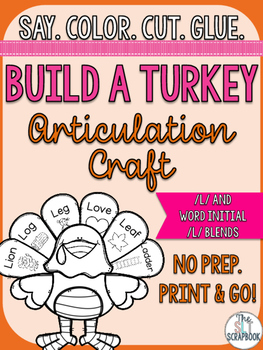Thanksgiving/Christmas Articulation Craft- No Prep- l and