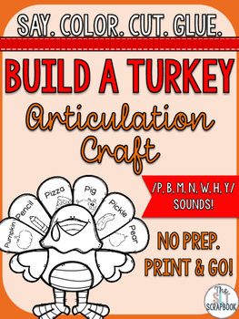 Thanksgiving/Christmas Articulation Craft - No Prep- p b m